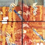 Nur Gökbulut, Yaşam İzlenimi, Karışık Malzeme, 100x100cm, 1990